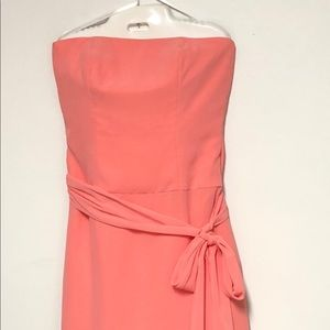 After Six Strapless Peachy Dress Sz 10